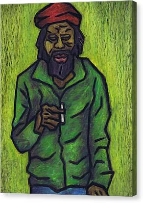 Rastafarian Canvas Print by Kamil Swiatek