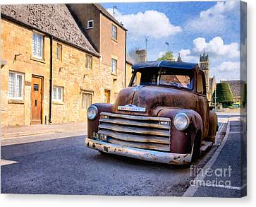 Rat Chevy 3100 Pickup Canvas Print by Tim Gainey