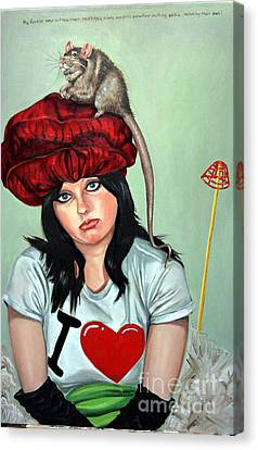 Rat Hat Canvas Print by Shelley Laffal
