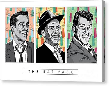 60s Canvas Print - Rat Pack Pop Art by Jim Zahniser