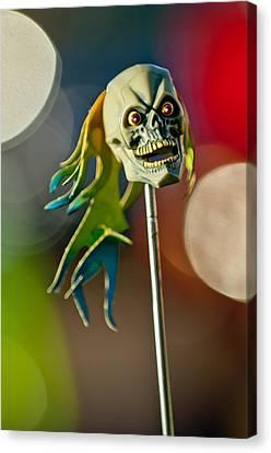 Rat Rod Antenna Skull  Canvas Print by Jill Reger