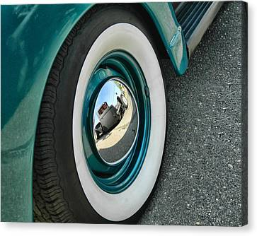 Canvas Print featuring the photograph Rat Rod Reflection by Victor Montgomery