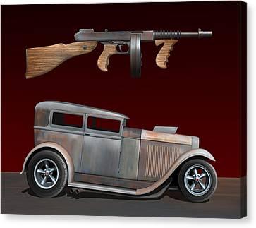 Rat Rod Sedan Iv Canvas Print by Stuart Swartz