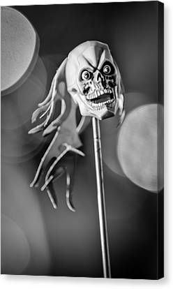 Rat Rod Skull Antenna Ornament Canvas Print