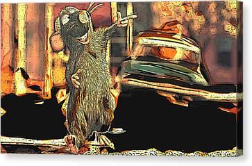Ratatouille Canvas Print by Florentina Maria Popescu
