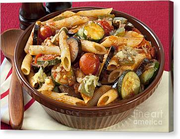 Ratatouille Pasta Bake Canvas Print by Colin and Linda McKie