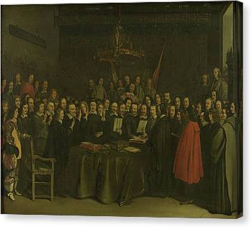 Ratification Of The Treaty Of Münster, 15 May 1648 Canvas Print