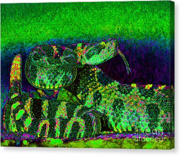 Rattlesnake 20130204p75 Canvas Print by Wingsdomain Art and Photography