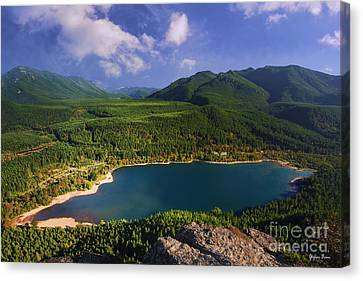 Rattlesnake Lake - Washington State Canvas Print by Yefim Bam