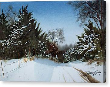 Rattlesnake Road Canvas Print by Denny Dowdy