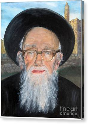 Rav Shlomo Zalman Auerbach Canvas Print by Michal Schwarz