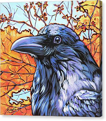 Raven Head Canvas Print by Nadi Spencer