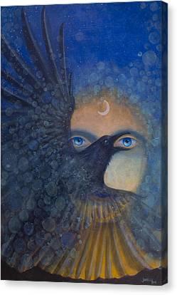 Raven Heart Canvas Print