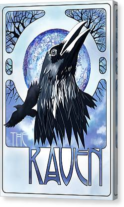 Raven Illustration Canvas Print
