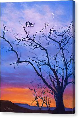 Raven's Chat Canvas Print