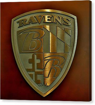 Ravens Coat Of Arms Canvas Print