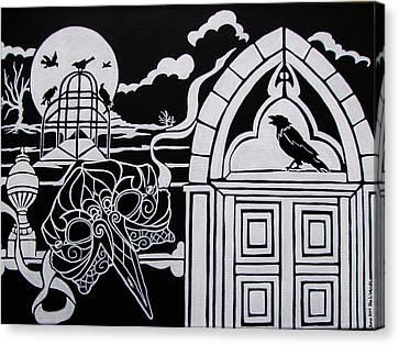 Ravens' Mask Canvas Print by Jan Wendt