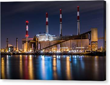 Canvas Print featuring the photograph Ravenswood Generating Station by Mihai Andritoiu