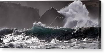 Raw Atlantic Power Canvas Print by Florian Walsh