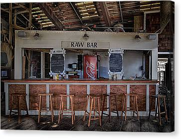 Raw Bar Canvas Print by John Hoey