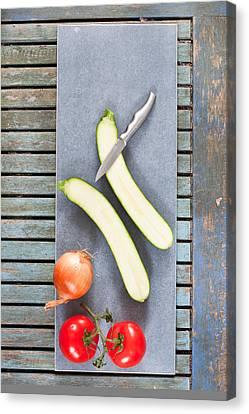 Italian Kitchen Canvas Print - Raw Ingredients by Tom Gowanlock