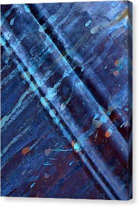 Raw Steel...upstream Canvas Print by Tom Druin