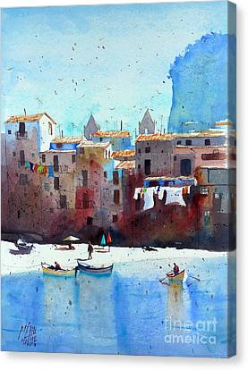 Rawer At Cefalu Canvas Print by Andre MEHU