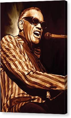 Ray Charles Artwork 2 Canvas Print by Sheraz A