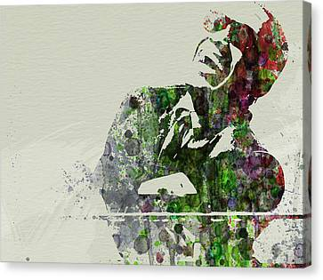 Ray Charles Canvas Print by Naxart Studio