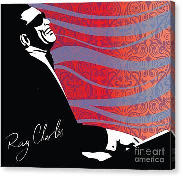 Ray Charles Jazz Digital Illustration Print Poster  Canvas Print by Sassan Filsoof