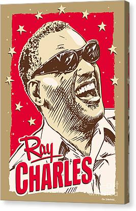 African American Canvas Print - Ray Charles Pop Art by Jim Zahniser