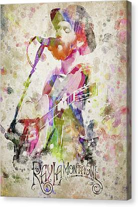 Piano Canvas Print - Ray Lamontagne Portrait by Aged Pixel