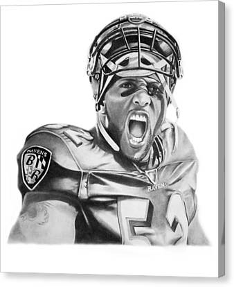 Ray Lewis Canvas Print by Don Medina