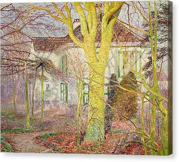 Ray Of Sunlight Canvas Print by Emile Claus
