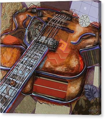 Ray The Guitar Canvas Print