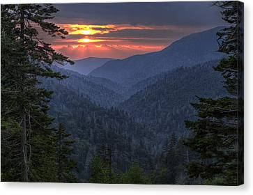 Rays Breaking Thru Canvas Print by Andrew Soundarajan