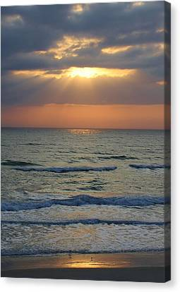 Rays From Above Canvas Print by Bruce Bley