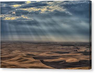 Rays On The Palouse Canvas Print by Mark Kiver