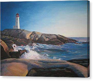 Ray's Peggy's Cove Canvas Print by Marcel Quesnel