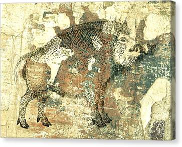 Cave Painting 4  Canvas Print by Larry Campbell