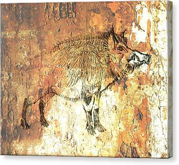Cave Painting 5 Canvas Print by Larry Campbell