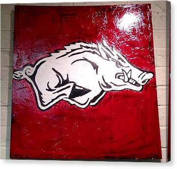 Razorback Painting Art Canvas Print by Dawn Bearden