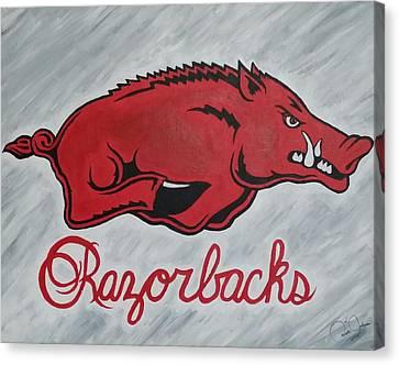 Razorbacks Forever Canvas Print by Russten Johnson