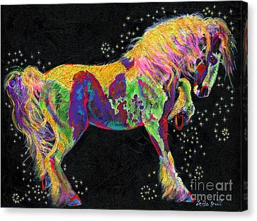 Razzle Dazzle Gypsy Cob Canvas Print by Louise Green