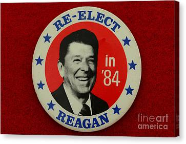Re-elect Reagan Canvas Print by Paul Ward