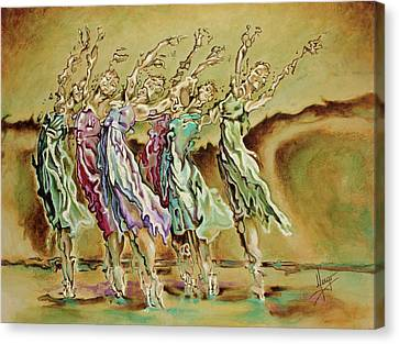 Ballerinas Canvas Print - Reach Beyond Limits by Karina Llergo