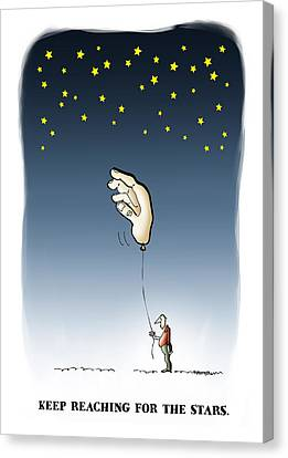 Reach For The Stars Canvas Print by Mark Armstrong