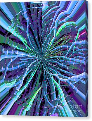 Reach Of The Bamboo Forest Canvas Print by Ann Johndro-Collins
