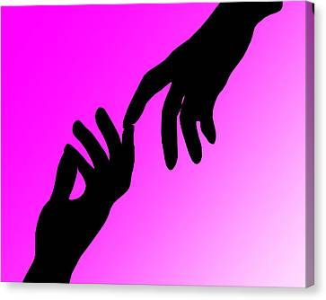 Reach Out And Touch Canvas Print by Peter Stevenson