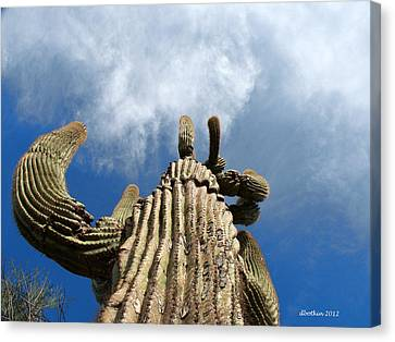 Canvas Print featuring the photograph Reach The Sky by Dick Botkin
